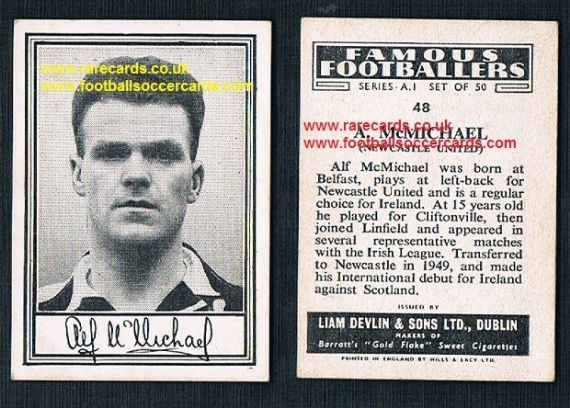 1952 Liam Devlin Ireland Series A1 #48 Alf McMichael Newcastle United